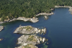 The Pellow Islets in front of Portland Island, Southern Gulf Islands, British Columbia, Canada.