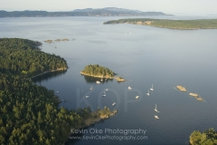 The anchorage at Princess Bay, Portland Island, Southern Gulf Islands, British Columbia, Canada.