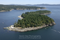 Aerial photo of Russell Island, Gulf Islands National Park Reserve of Canada