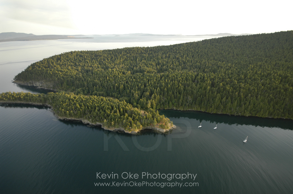 Narvaez Bay, Gulf Islands National Park Reserve of Canada, Saturna Island, British Columbia, Canada.