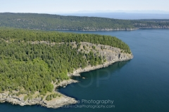 Aerial photo of Saturna Island, British Columbia, Canada.