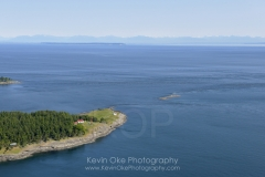 East Point Lighthouse, Gulf Islands National Park Reserve of Canada, Saturna Island, British Columbia, Canada.