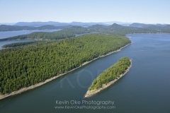 Aerial photo of Samuel Island, British Columbia, Canada.