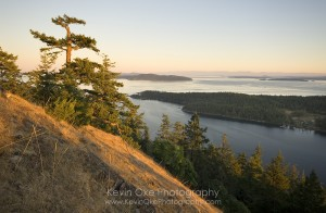The view from Mt. Norman, South Pender Island