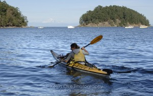 Kayaking in Bennett Bay, Mayne Island
