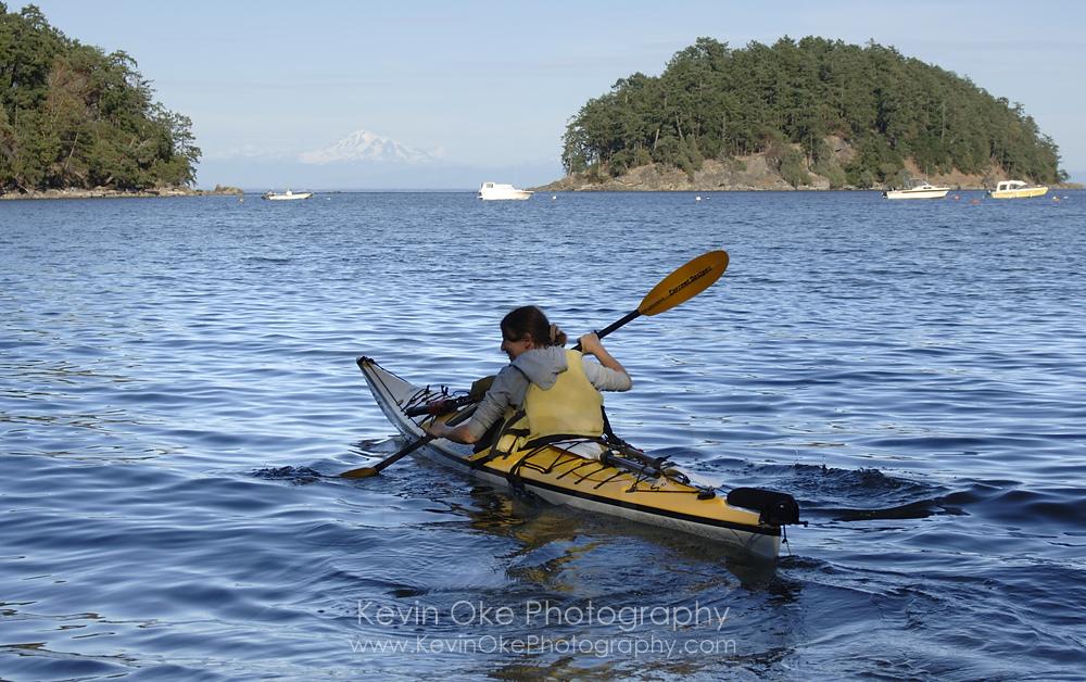 Kayaking in Bennett Bay, Mayne Island