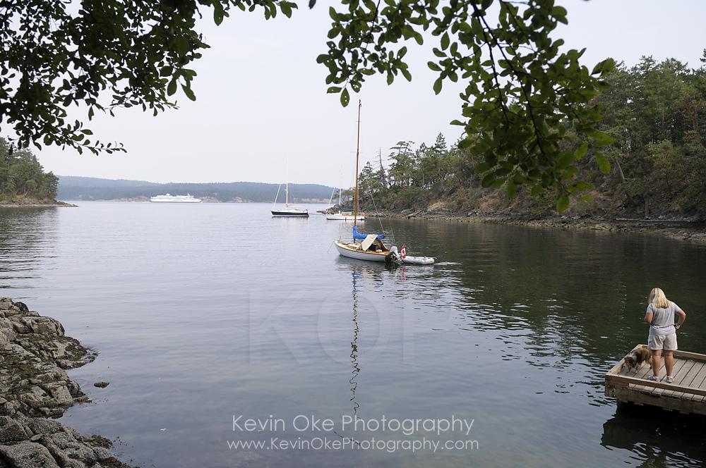 The anchorage at Royal Cove, Portland Island