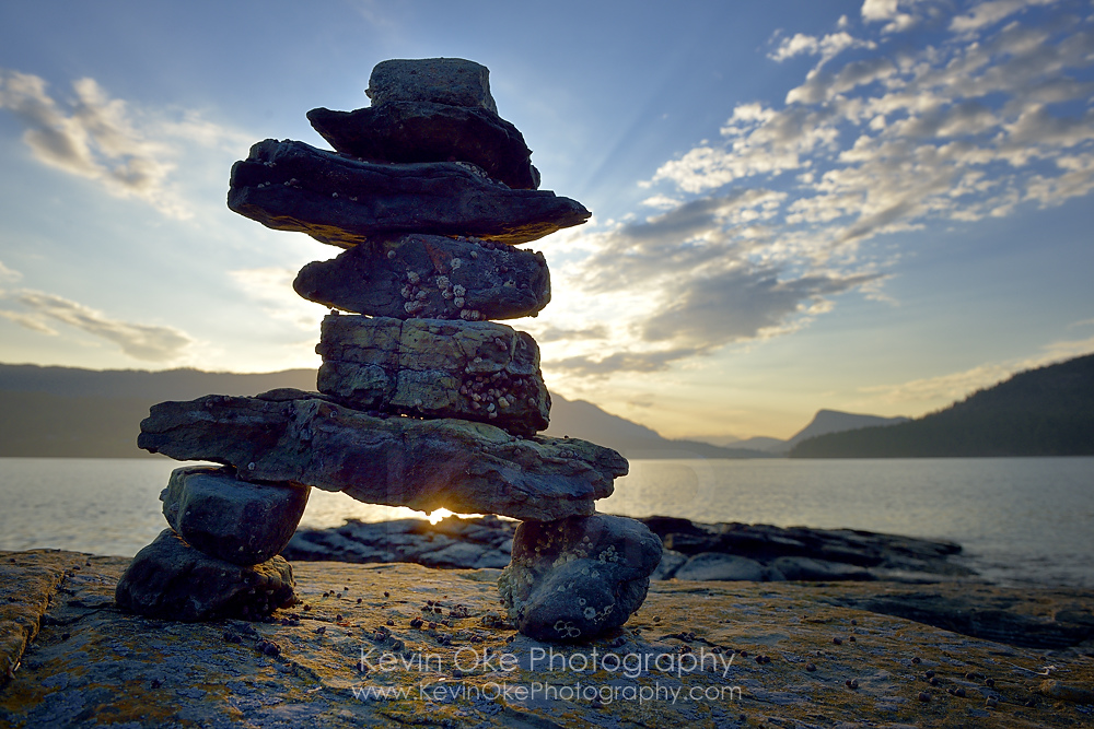 Inukshuk at Russell Island