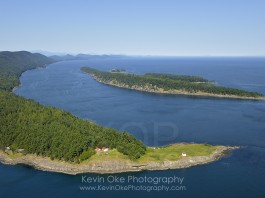 East Point Light Station with Tumbo Island and Cabbage Island in the background, Saturna Island