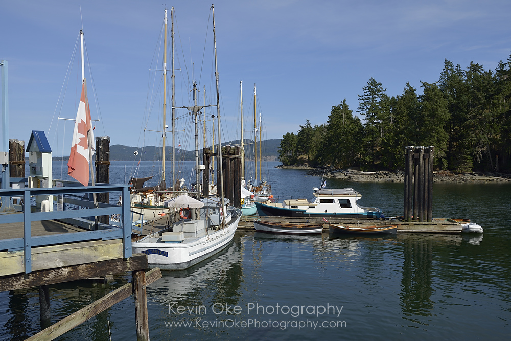 The public dock at Hope Bay, North Pender Island