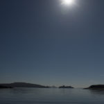 BC Ferry during the solar eclipse