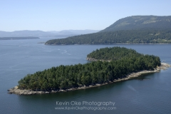 Aerial photograph of Russell Island, Gulf Islands National Park Reserve