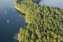 Aerial photograph of Russell Island, Gulf Islands National Park,  British Columbia, Canada.