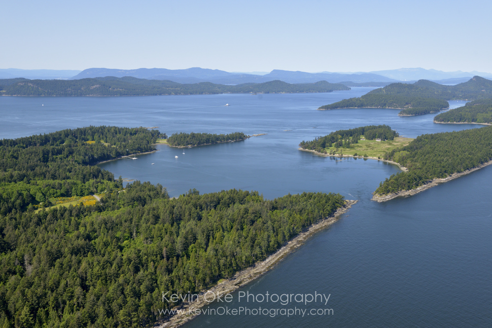 Boat Passage and Winter Cove, Gulf Islands National Park Reserve of Canada, Saturna Island, British Columbia, Canada.