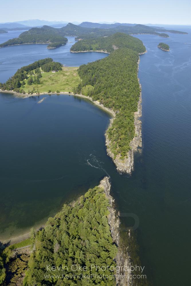 Boat Passage and Samuel Island. British Columbia, Canada.