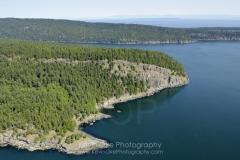 Aerial photo of Saturna Island, British Columbia, Canada.