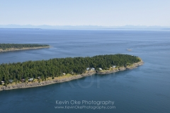 Aerial photo of East Point, Saturna Island, British Columbia, Canada.