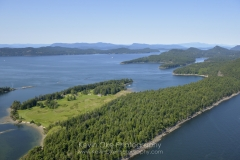 Samuel Island overlooking Plumper Sound, British Columbia, Canada.