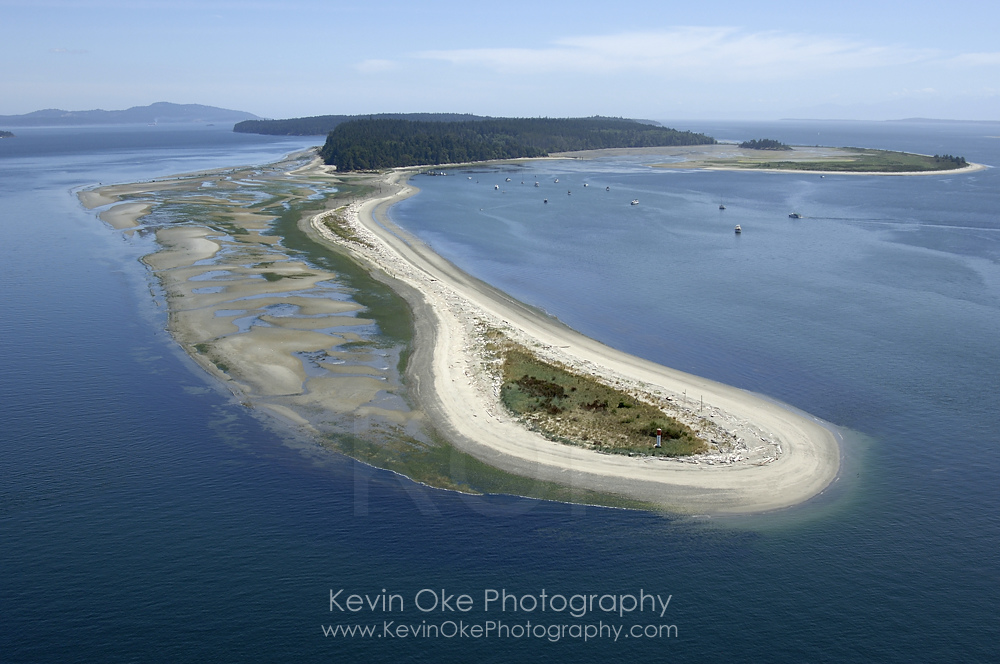 Aerial photo of Sidney Spit, Gulf Islands National Park Reserve of Canada, Sidney Island
