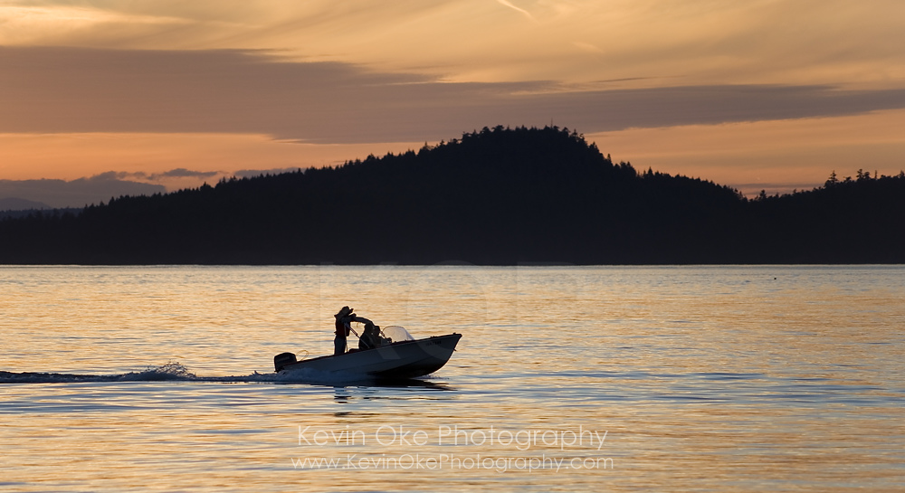 Heading out to fish in the Gulf Islands