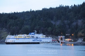 The Queen of Nanaimo docking at Otter Bay on North Pender Island
