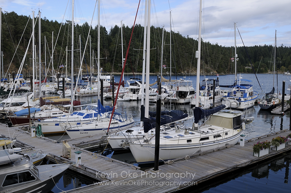 Otter Bay Marina on North Pender Island