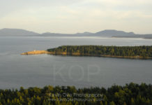 Aerial photo of East Point, Gulf Islands National Park, Saturna Island