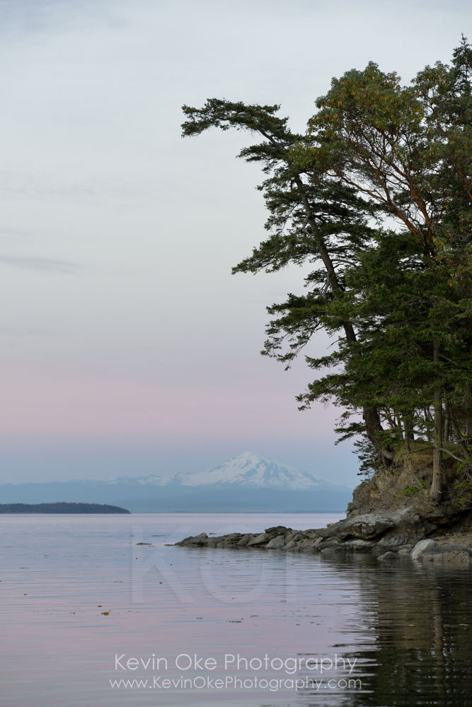 Mt Baker in Washington State from Narvaez Bay, Saturna Island
