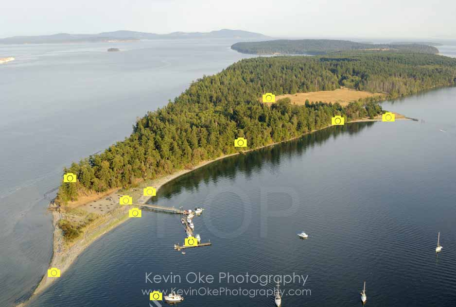 South Park Portland >> Sidney Spit interactive photo map   Gulf Islands National Park, British Columbia