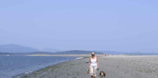 Walking at Sidney Spit
