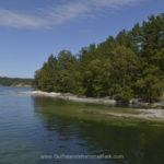 Clear water in the Gulf Islands National Park